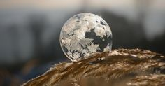 This Is What Happens To A Soap Bubble In Winter | Bored Panda