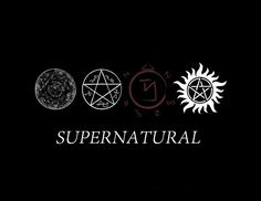 Supernatural Procections Symbols by Supernatural Signs, Supernatural Background, Supernatural Symbols, Destiel, Eric Kripke, Symbolic Tattoos, Shadow Hunters, Series Movies, Superwholock