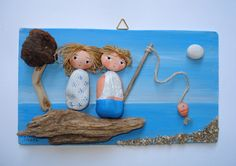 Lucky day  Pebble art hand painted picture от NivaDesignsShop