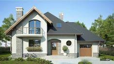 Bungalow House Design, Tiny House Design, Home Building Design, Building A House, Design Case, Simple House, Home Fashion, Cozy House, My Dream Home