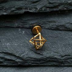 Geometric nose ring.