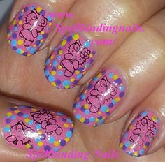 Hello Kitty Nails   My Witch Hello Kitty Manicure, Using HK08