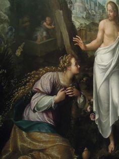 """The hairdressing"". Fede Galizia, Noli me tangere, oil on canvas. Italian Baroque, Baroque Art, Noli Me Tangere, Female Painters, Italian Painters, Italian Renaissance, Caravaggio, Sacred Art, Learn To Paint"