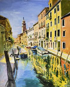 Venice Canal Painting by Conor McGuire