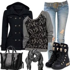 Blended Hoody with Domineering Sneakers #999428 - I'm Addicted To You Find More: http://www.imaddictedtoyou.com