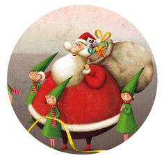 """""""Défense de manger le Père Noël!"""" illustrations by Marie Desbons"""