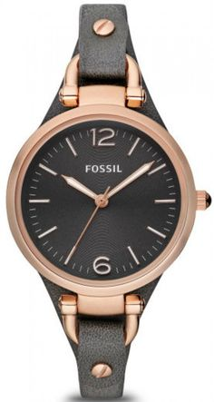 """Looking for FOSSIL Watches? We stock a huge range, offer great prices and a free delivery - Black Women's Watch FOSSIL """"GEORGIA"""" online today from our Madisson Jewellery Shop Black Leather Watch, Grey Leather, Soft Leather, Georgia, Fossil Watches, Women's Watches, Gold Watches, Dress Watches, Ladies Watches"""