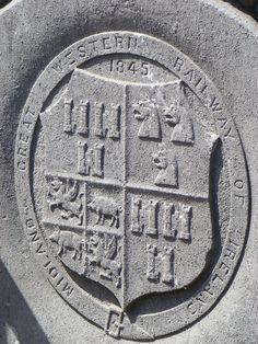 Midland Great Western Railway of Ireland (logo) Railway Posters, Great Western, Custom Homes, Ireland, Irish, Typography, Logo, House, Design
