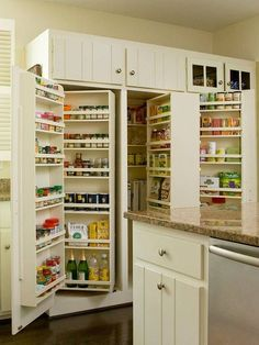 How clever is this? What a great way to ensure you can find all the items in your pantry. If you're looking for kitchen storage inspiration, you'll find it in our Kitchen Storage Ideas album on our site at http://theownerbuildernetwork.co/ideas-for-your-rooms/home-storage-gallery/kitchen-storage/ Thumbs up?