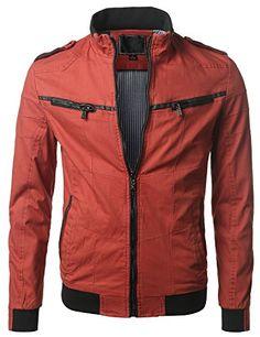 URBANCREWS Mens Hipster Hip Hop Slim-Fitted Lightweight Zip Jacket RED LARGE URBANCREWS http://www.amazon.com/dp/B00QR4YDEW/ref=cm_sw_r_pi_dp_ebj-vb0CSNXVK