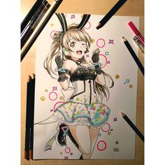 Kotori 🌸 Drawing with colored pencils