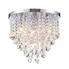 Bathroom Lights Debenhams orlando 5 light bathroom square flush ceiling light - chrome