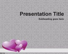 Heart PowerPoint Backgrounds is a nice heart background for PowerPoint presentations with three violet heart in the grey background design