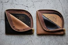Leather Zip Wallet by Anchor Bridge and Roberu