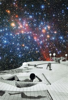Another Day on the Moon - Collage by Leia Nagora Collages, Planets, Moon, Day, Pictures, Life, The Moon, Photos, Collagen