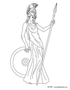 ATHENA The Greek Goddess Of Wisdom Coloring Page Print This Out Or Color In Online With Our New