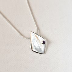 Amethyst  Sterling Silver Floe Pendant with by hollybluejewelry #silvernecklace #silverjewelry #amethyst #hollybluejewelry #pendant #necklace #jewelry #jotd #thatsdarling