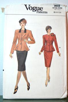 1980s Vintage Uncut Vogue Pattern 9659 Misses by TabbysVintageShop, $14.00
