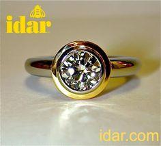 Idar - chubby bowl set with a 1.25 ct. diamond, totally handmade in the idar workshop.