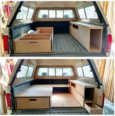 Meant for a pickup, great for a minivan - Truck Camping Inspiration - Suv Camping, Pickup Camping, Truck Canopy Camping, Truck Topper Camping, Camping Ideas, Car Tent, Truck Tent, Camping Snacks, Camping Signs