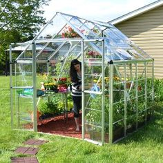 Palram 8 Ft. W x 8 Ft. D Greenhouse Finish: Silver