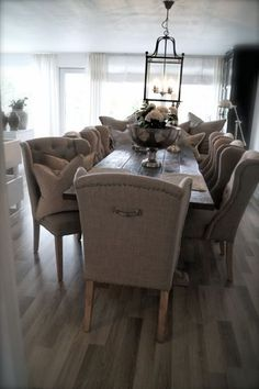 love the wing back dining chairs, would prefer a different color though.