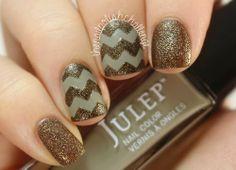 diseno unas metalico, metallic nail design