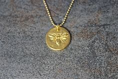 Bumble Bee Gold Plated 24k Gold Plated Britannium Pendant Necklace