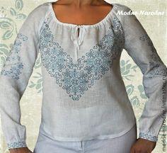 Купить блуза с ручной вышивкой Дзвинка - вышивка ручная, этно, этнический…