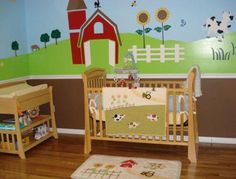 30 Stencils Kit with Farm and Animal Theme For Beautiful Nursery Room Wall Mural