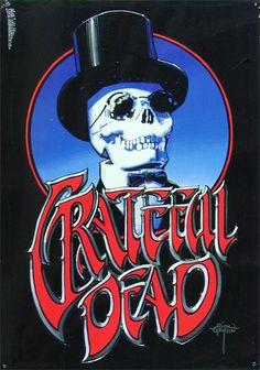 Rick Griffin Grateful Dead Embossed Metal Sign