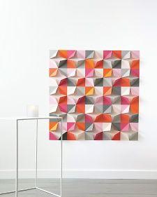 folded-paper wall backdrop #birthdayparty