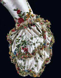 Sleeve cuff from a dress belonging to Marie Antoinette