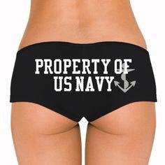 Property Of US Navy: Custom Bella Hotshort - Customized Girl