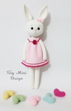 Mesmerizing Crochet an Amigurumi Rabbit Ideas. Lovely Crochet an Amigurumi Rabbit Ideas. Bunny Crochet, Crochet Mignon, Easter Crochet, Cute Crochet, Amigurumi Free, Crochet Amigurumi, Amigurumi Doll, Crochet Dolls, Crochet Toys Patterns