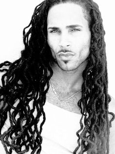 love the locs...not quite as big a fan of men making STANK SEXY FACES!! =P :: #dreadstop