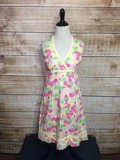 Lilly Pulitzer Multicolor Floral Halter Sundress Size 10 #LillyPulitzer #Sundress
