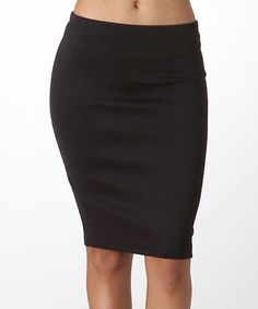 Another great find on #zulily! Black Pencil Skirt #zulilyfinds