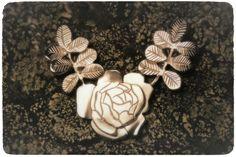 Burned Rose/Finnish Rose • silver necklace.  Handmade by Tytti Bräysy www.paarmadesign.fi