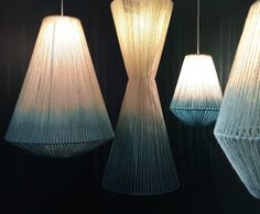 Janie Knitted Textiles wool pendant lights at london design 2015