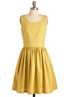Organic cotton dress...Makes me think a friend of mine who's obsessed with the color yellow.