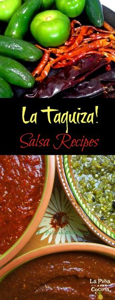 authentic mexican salsa A great salsa is only as good as the salsa running down your arm! One of the most fun dinner with friends and family, for me, is a taco Mexican Salsa Recipes, Mexican Dishes, Authentic Salsa Recipe, Pesto, Hot Sauce Recipes, Chili Recipes, Roasted Tomatillo, Salsa Picante, Hispanic Kitchen