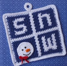Snow! Potholder Pattern