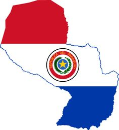 Paraguay FLAG MAP
