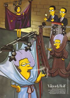 Patty and Selma Bouvier for Viktor & Rolf, pinned by Ton van der Veer