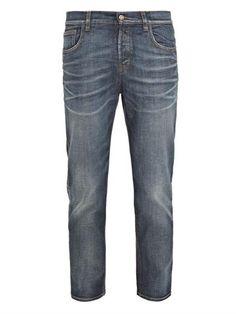 Gucci Drop-crotch cropped jeans