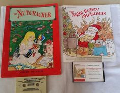 The Night Before Christmas  Nutcracker Coloring Cassette Book an Tape Scholastic