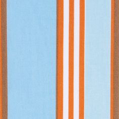 Aqua/Orange Club Stripe Crib Sheet. #serenaandlily #nursery
