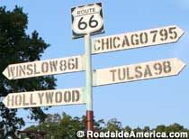 Route 66 would be very convenient for travel while also letting me see many historic places in America.
