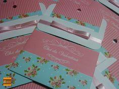 Convite Para Chá de Bebê floral